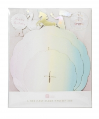 Cupcake standur Pastel-Swan-Unicorn-Mermaid 30 x 37cm image