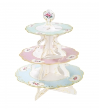 Cupcake standur Truly Chintz - Pastel eða hvítur 30 x 36cm image