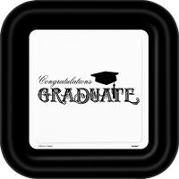 Pappadiskar 23cm - Graduate Útskrift 8stk image