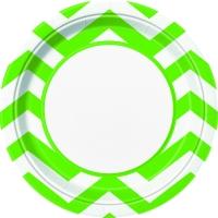 Pappadiskar 22cm - Chevron Vert Lime 8 stk image