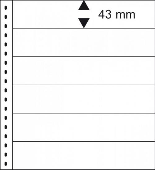 18 hringja - Omnia Blað - 6 Vasa - 10stk. - Lindner