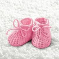 Servíettur - Ambiente - Baby Girl Booties 25x25cm 20 stk. image