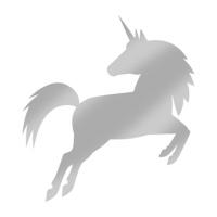Servíettur - PPD - silver Unicorn 33x33cm 20 stk. image