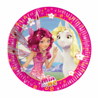 Pappadiskar - Mia and Me - Unicorn - 19,5cm, 8stk. image
