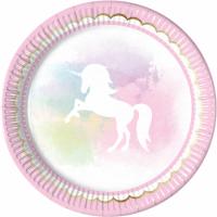 Pappadiskar - Believe in Unicorns - 23cm, 8stk. image