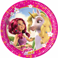 Pappadiskar - Mia and Me - Unicorns - 23cm, 8stk. image