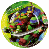 Pappadiskar - Ninja Turtles - 18 cm, 8 stk. image