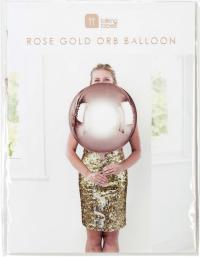 Álblaðra - Kúla 38cm með 1m bandi - Rose-gold image