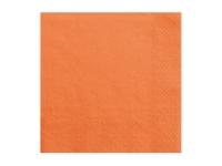 Servíettur - 3ja laga, 33x33cm - 20 stk. - Einlitar Appelsínugular image