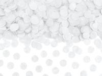 Borðskraut - Confetti-Hringir - Kreppappír 1,6 cm - Hvítir - 15g image