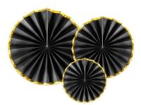 Blævængir - Svartir með Gull rönd - 23, 32 og 40cm - 3stk image