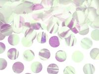 Borðskraut - Confetti-Hringir - Álpappír 2,6 cm - Iridescent - 15g image