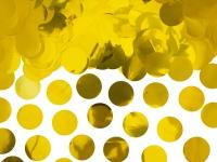 Borðskraut - Confetti-Hringir - Álpappír 2,6 cm - Gull - 15g image