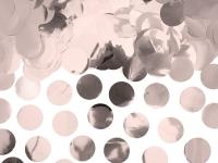 Borðskraut - Confetti-Hringir - Álpappír 2,6 cm - Rose-Gull - 15g image