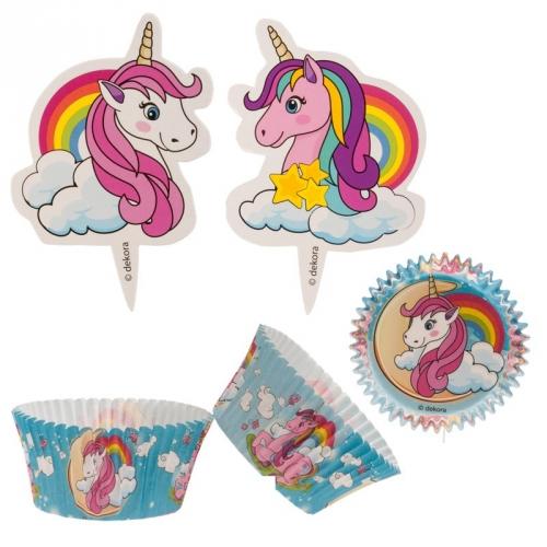 Muffinsmót með pinnum - Unicorn - 24 sett