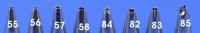 Sprautustútur úr stáli - Nr. 57 image