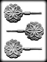 Hitaþolið sleikjóplastmót - Snjókorn 7,6 cm image