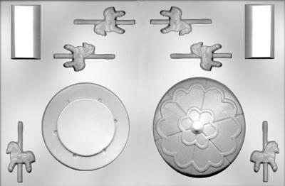 Plastmót - Hringekja, þrívíddarmót (2 stk) image