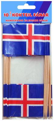 Íslenski fáninn - 5x7cm.  10 stk.