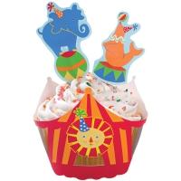 Muffinskápur og skrautpinnar - Sirkus image