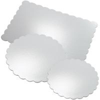 Kökuspjöld 6 stk - Silfur kringlótt 35 cm image