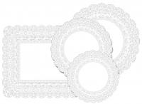 Kökuspjöld með blúndumynstri - Ferköntuð 35 x 50 cm image