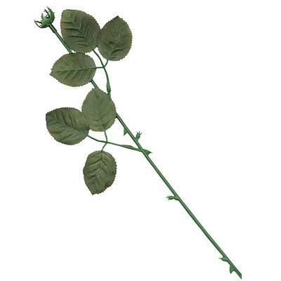 Rósastilkur með laufblöðum - 37 cm