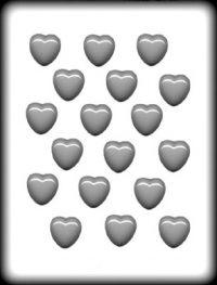 Hitaþolið plastmót - Hjörtu 2,9 cm image