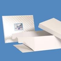 Stíft kökuspjald og kökukassi - Silfur ferkantað 38 x 27,8 cm image