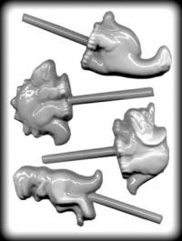 Hitaþolið sleikjóplastmót - Risaeðlur 8,3 - 8,9 cm image