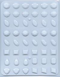 Hitaþolið plastmót - Gimsteinar 1,9 cm image