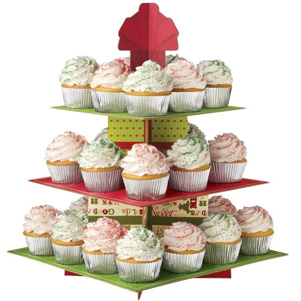Cupcake standur - Ferkantaður jólastandur image