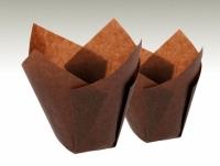 Muffinsmót (lítil), Tulip - Brún 25 stk. image