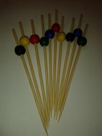 Kokteilpinnar með kúlu - stórir - 10 stk image
