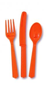 Hnífapör - Appelsínugul 18 stk image