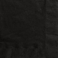 Servíettur, litlar - Miðnætursvartar 20 stk image
