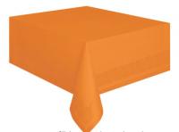 Pappadúkur með plastundirlagi - Appelsínugulur 135x275cm image