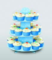 Cupcake standur - Blár með doppum