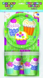 Partýpakki fyrir 8 - Cupcake Party image