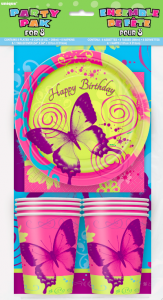 Partýpakki fyrir 8 - Butterfly Chic image