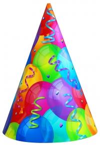 Afmælishattar - Brilliant Balloons 8 stk image