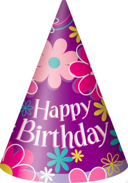 Afmælishattar - Birthday Blossom 8 stk