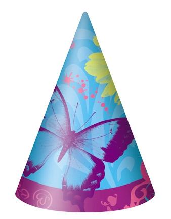 Afmælishattar - Butterfly Chic 8 stk image