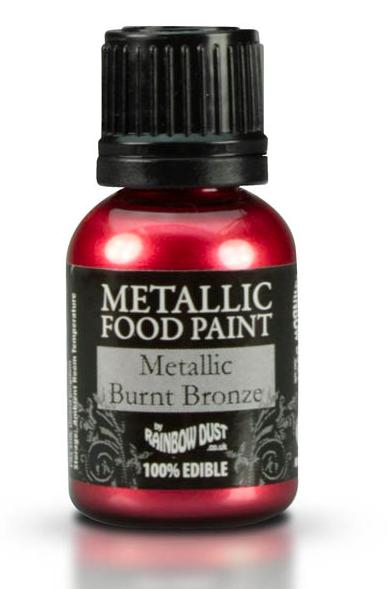 Rainbow Dust Metallic Food Paint - Metallic Burnt Bronze | Allt í ...