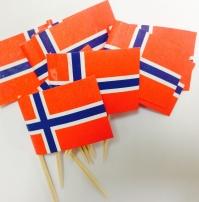 Norski fáninn - 10 kokteilfánar image