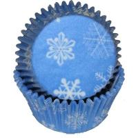 Muffinsmót - Snjókorna blá/hvít - ca. 36 stk. image