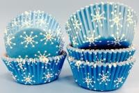 Muffinsmót - Blá snjókornamót lítil 100 stk. image