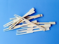 Bambus gafflar - 8,5cm - 10 stk image
