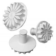 Set - Veined Sunflower, Gerbera & Daisy Plunger Cutters image
