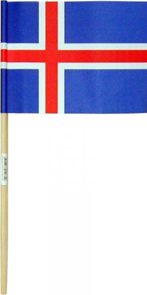 Íslenski fáninn - 11x15cm.  1 stk.